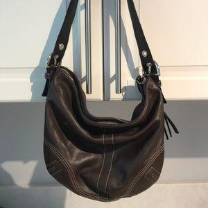 Brown Coach handbag with Coach storage bag